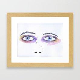 Two Black Eyes Framed Art Print