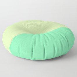 Lime Pistachio Color Block Floor Pillow