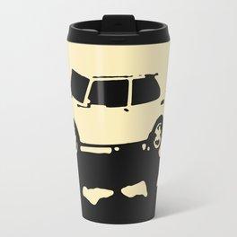 Saab 99 EMS, Black on Cream Travel Mug