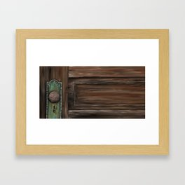 Rustic Wooden Door Framed Art Print