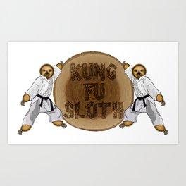 Kung Fu Sloth! Art Print