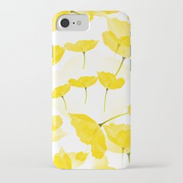 Light Yellow Poppies Spring Summer Mood #decor #society6 #buyart iPhone Case