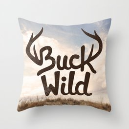 Buck Wild Throw Pillow