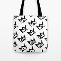 bow Tote Bags featuring Bow by Matt Smiroldo