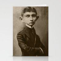 kafka Stationery Cards featuring Kafka by Jason Seiler