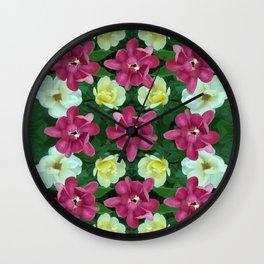 Fantasy Garden Pattern Wall Clock