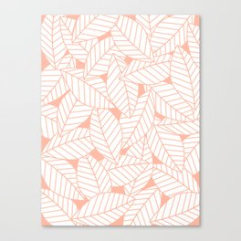 Leaves in Creamsicle Canvas Print