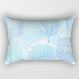 Blue autumn leaves Rectangular Pillow