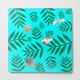 leaf coral Metal Print