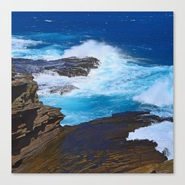 Hawaiian Tropical Breathtaking Coastline Canvas Print