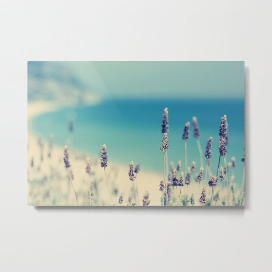beach - lavender blues Metal Print