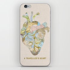 A Traveller's Heart (UK) iPhone Skin