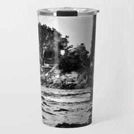 Bridge over the beach with texture Travel Mug