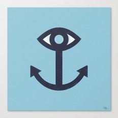 Happy Cyclops Anchor Canvas Print