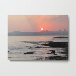 Cascais Sunset Metal Print