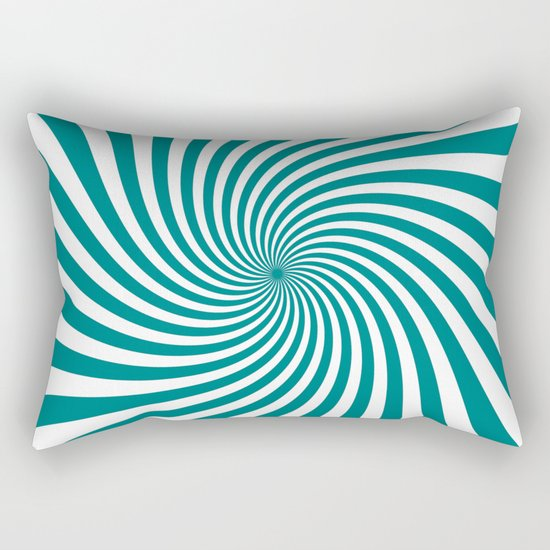 Swirl (Teal/White) Rectangular Pillow