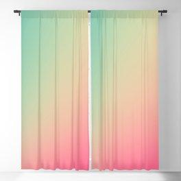 Gradient Colours: Turquoise Pink Pastel Blackout Curtain