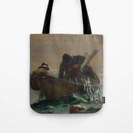 Winslow Homer - The Herring Net, 1885 Tote Bag
