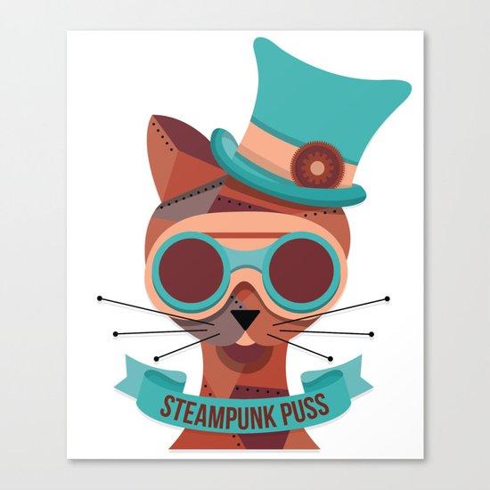 Steampunk Puss Canvas Print
