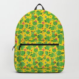 Cactus Me Outside (Yellow) Backpack