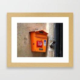 post box Framed Art Print