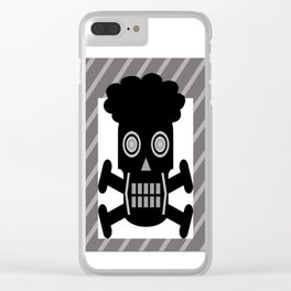 bbnyc afro skull guy Clear iPhone Case