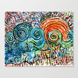 whimsy sunset art  Canvas Print