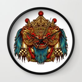 Barong Mask Wall Clock