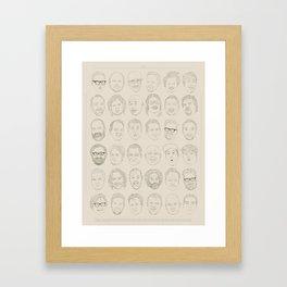 36 Funny People Framed Art Print