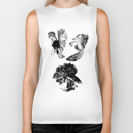 Beta Fish Lavender Biker Tank