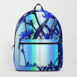Blue Wildflowers With Backlight Backpack