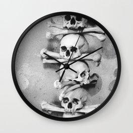Sedlec Ossuary, Kutna Hora, Czech Republic. Wall Clock