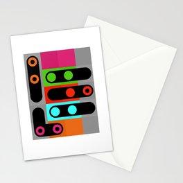 points et lignes 4 Stationery Cards