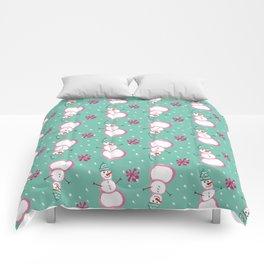Snowman Toss Comforters