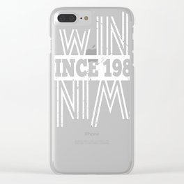 Twins-Since-1989---28th-Birthday-Gifts Clear iPhone Case