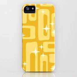Retro Mid Century Modern Abstract Pattern 127 Yellow iPhone Case