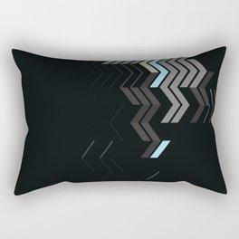Deconstructed Chevron C – Gray / Gold / Blue Abstract Pattern Rectangular Pillow