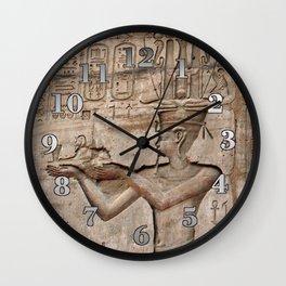 Horus and Temple of Edfu Wall Clock