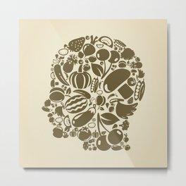 Head food Metal Print