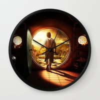 lord of the rings Wall Clocks featuring THE LORD OF THE RINGS by September 9