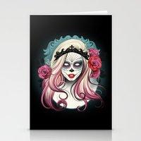 dia de los muertos Stationery Cards featuring ¡Dia de los Muertos! by Tati Ferrigno
