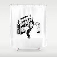 radiohead Shower Curtains featuring Radiohead by Henn Kim