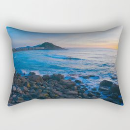 Sunset blue and orange. San Sebastian, Spain. Rectangular Pillow