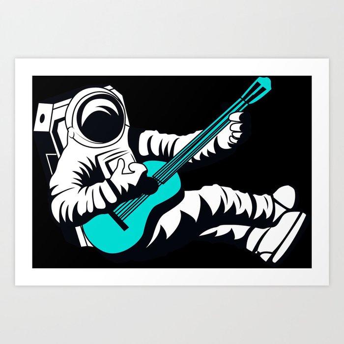 Blue Guitar Music Art Design Decor Gift
