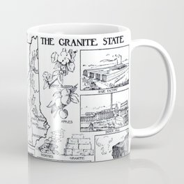 Vintage Map of Vermont and New Hampshire (1912) Coffee Mug