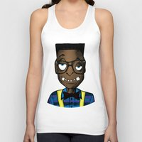 nerd Tank Tops featuring Nerd by DeMoose_Art