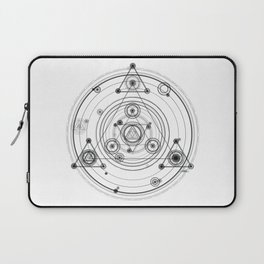 Sacred geometry and geometric alchemy design Laptop Sleeve