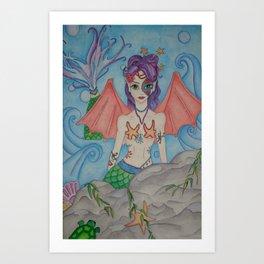 Cayla's Mermaid Art Print