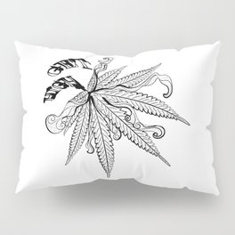 Marijuana leaf with smoke Pillow Sham