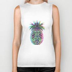 Pineapple CMYK Biker Tank